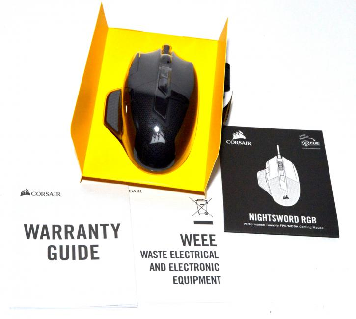 Corsair NightSword RGB gaming mouse review - Product showcase
