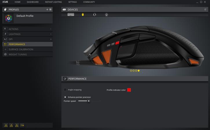 Corsair NightSword RGB gaming mouse review - Application Software