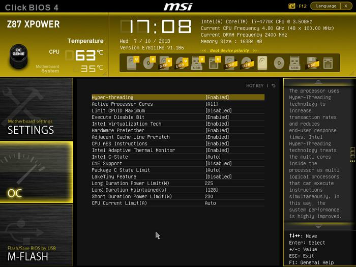MSI Z87 XPower motherboard review - Overclocking the Core i7