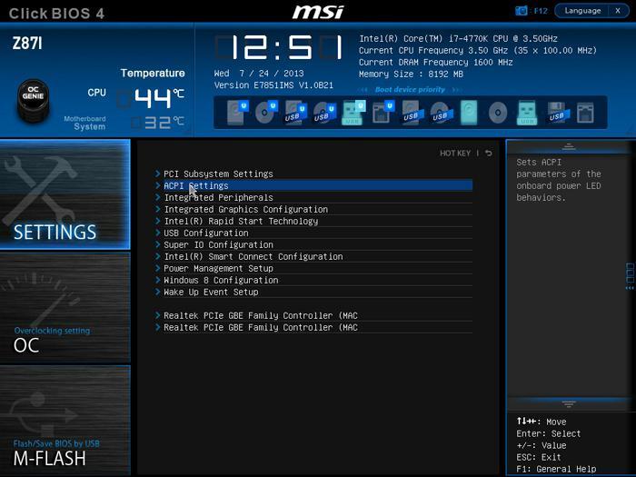 MSI Z87I motherboard review - The UEFI BIOS