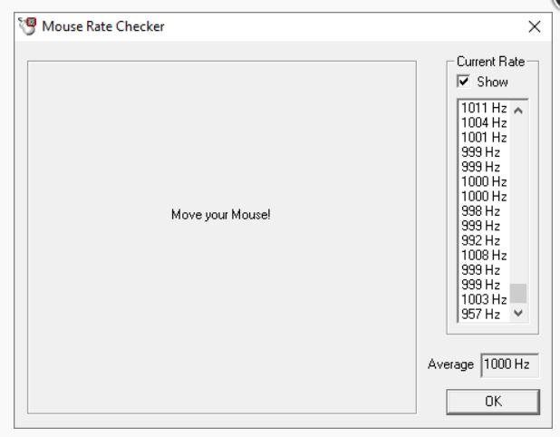 Polling checker keyboard rate Polling rate