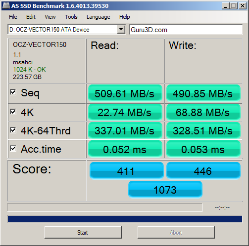 Nov '13 AS SSD Benchmark Speed