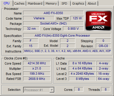 Amd Fx 8350 Processor Review Cpu Z Screenshots And System Amd Fx 8350