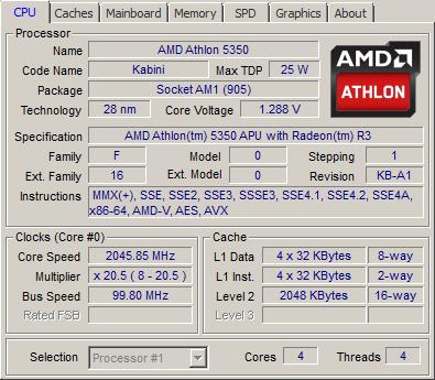 Amd Athlon 5350 Apu And Am1 Platform Review Cpu Z Screenshots System