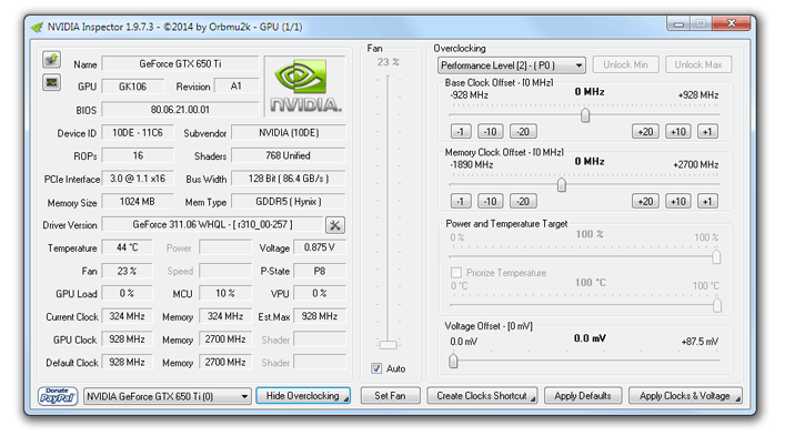 download nvidia inspector latest