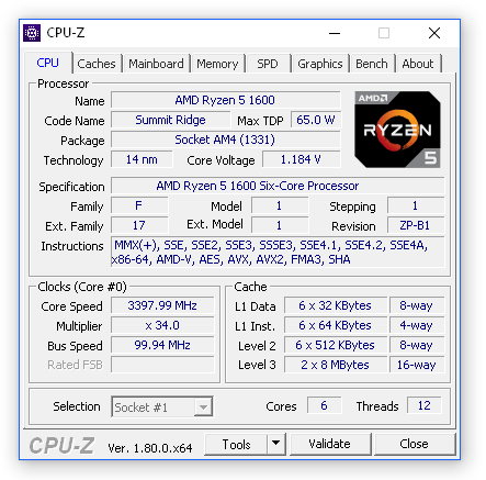 CPU-Z download v1 90