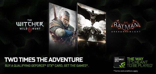 Nvidia adds Witcher 3 & Batman: Arkham Knight to GeForce GTX