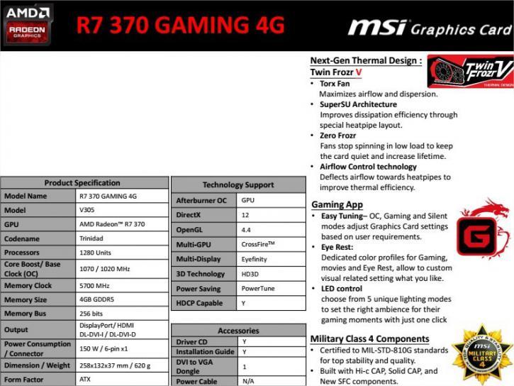 msi r7 370 drivers download