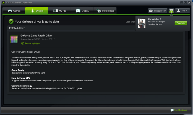 GeForce Experience Gets New Features & Locks Driver