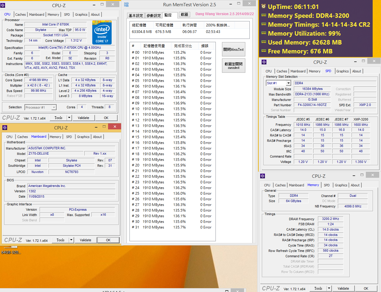 G SKILL Announces DDR4-3200MHz CL14 64GB(4x16GB) Memory Kit