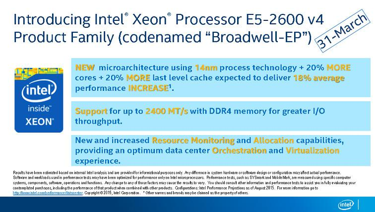 Intel Xeon Broadwell-EP Could Launch at the end of the Month ?