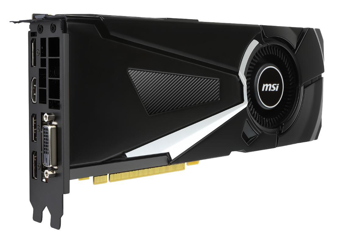 MSI unveils Gaming, Sea Hawk, Armor and Aero GeForce GTX 1080