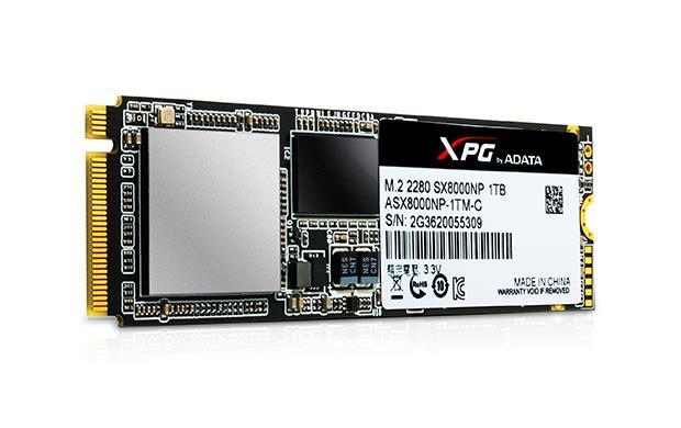 Adata releases xpg sx8000 pcie gen3x4 m2 ssd for Domon 128gb slc ssd