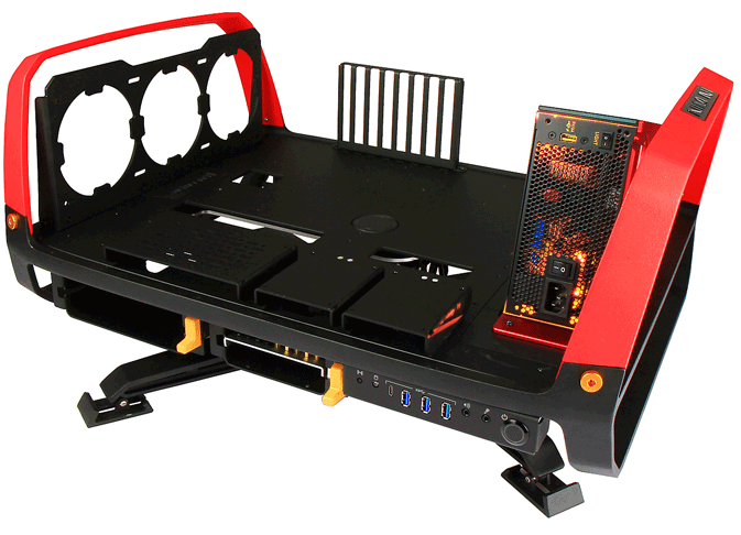 In-Win X-Frame 2.0 Open Chassis with Signature Series PSU SI-1065W
