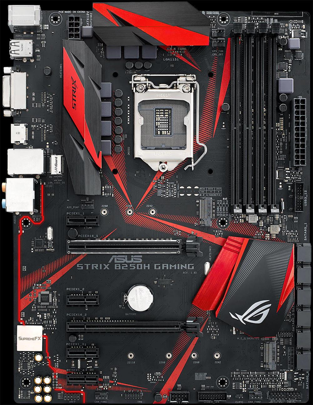 ASUS Republic of Gamers Announces Strix B250G Gaming and Strix B250H