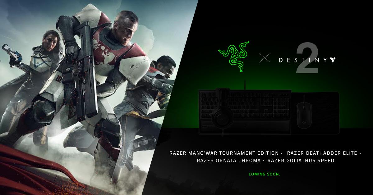 Razer & Bungie Announce Partnership, Destiny 2 Peripherals