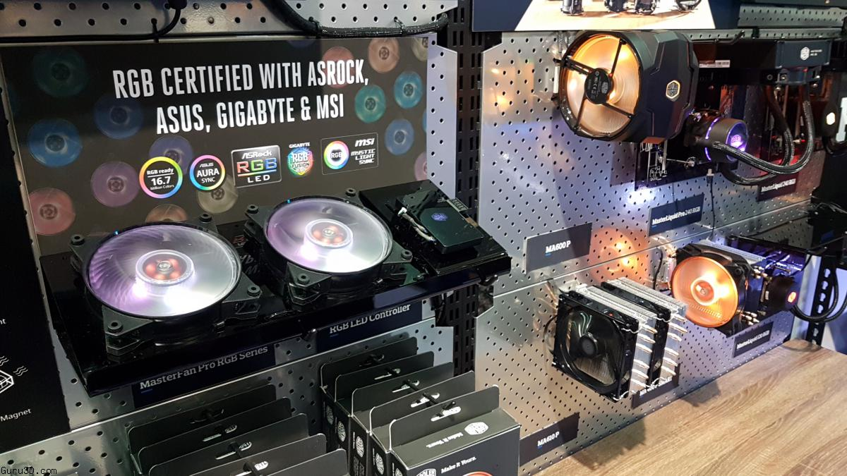 Computex 2017: Cooler Master MasterFan Pro RGB w/ Master Software