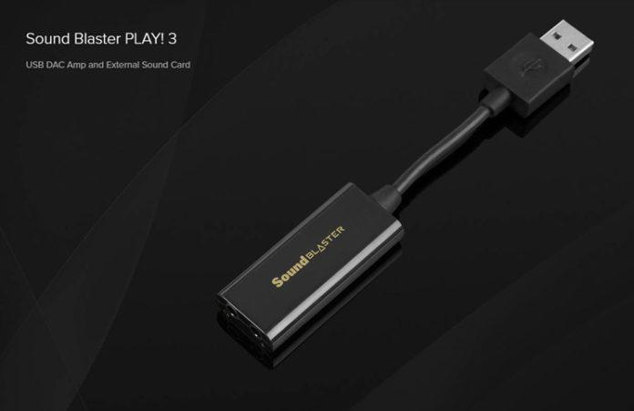 Sound Blaster releases Play! 3 USB Sound Card with Creative DAC