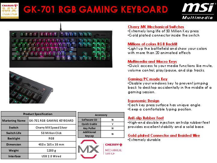 51ada65b4ca MSI Now Offers GK-701 RGB Mechanical Gaming Keyboard