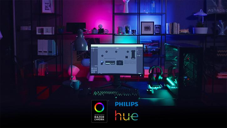 philips lighting and razer join forces for razer chroma lighting ecosystem. Black Bedroom Furniture Sets. Home Design Ideas