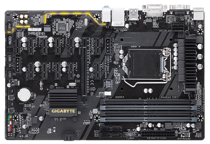Gigabyte Releases B250 FinTech Motherboard with a native 12