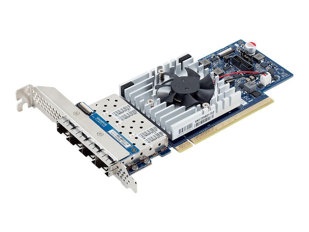 Gigabyte Shows Quad 10GbE SFP28 LAN ports card