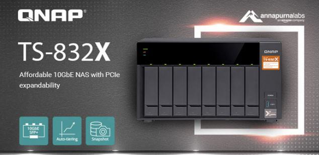 QNAP launches new TS-832X NAS family with 2 10GbE SFP + ports