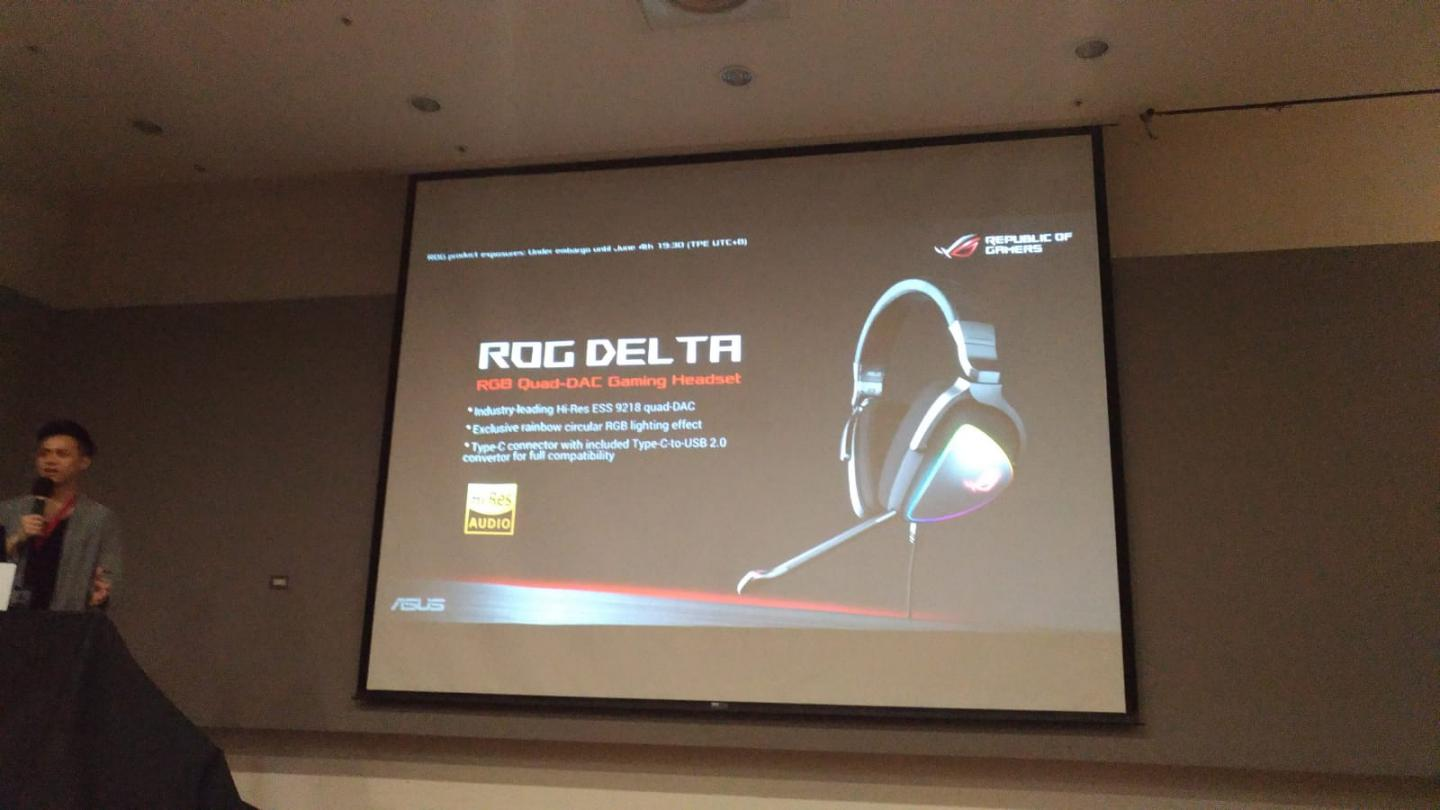 Asus Launches ROG Delta USB-C headset - Claims 127 dB SNR