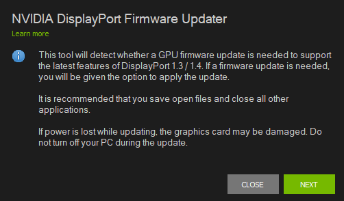 NVIDIA Releases Firmware Update Tool To Support DisplayPort 1 3 and