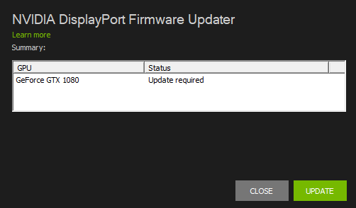 NVIDIA Releases Firmware Update Tool To Support DisplayPort