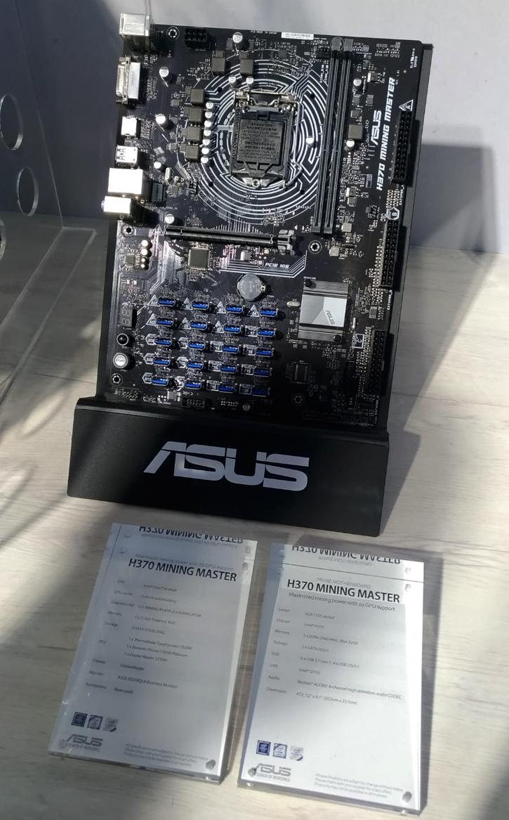 Some photos of that fascinating ASUS H370 Mining Master with