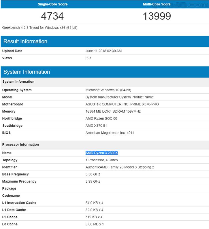 Unannounced AMD Ryzen 3 2300X and Ryzen 5 2500X Make An