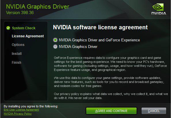 NVIDIA adds far more visual option to not install GeForce Experience