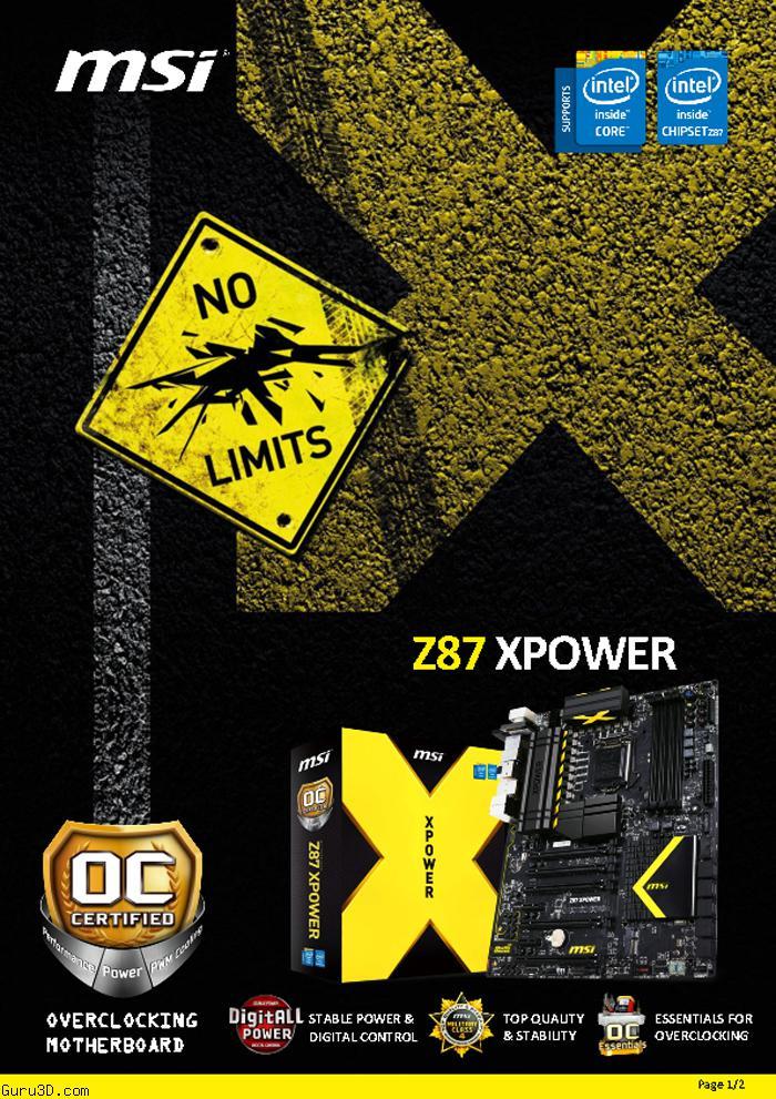 MSI Z87 XPOWER Flagship LGA1150 Motherboard