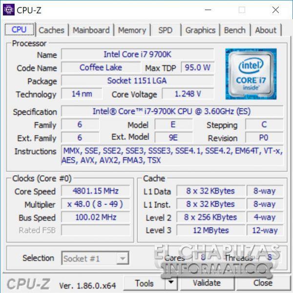 Spanish website posts Core i7-9700K Benchmarks