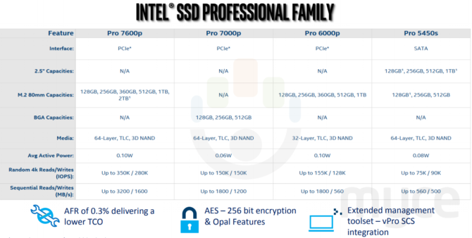 Leaked Intel roadmap shows 7000P Pro and 700P BGA SSDs