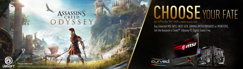 MSI Bundles Assassins Creed Odyssey with MSI Z390 / X470