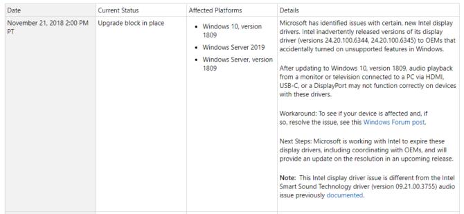 Microsoft blocks Windows 10 October 2018 Update (Again)