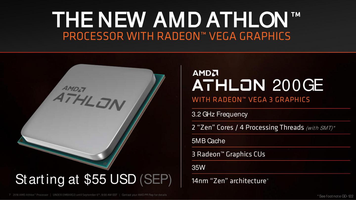 You know that AMD Athlon 200GE with no multiplier     does