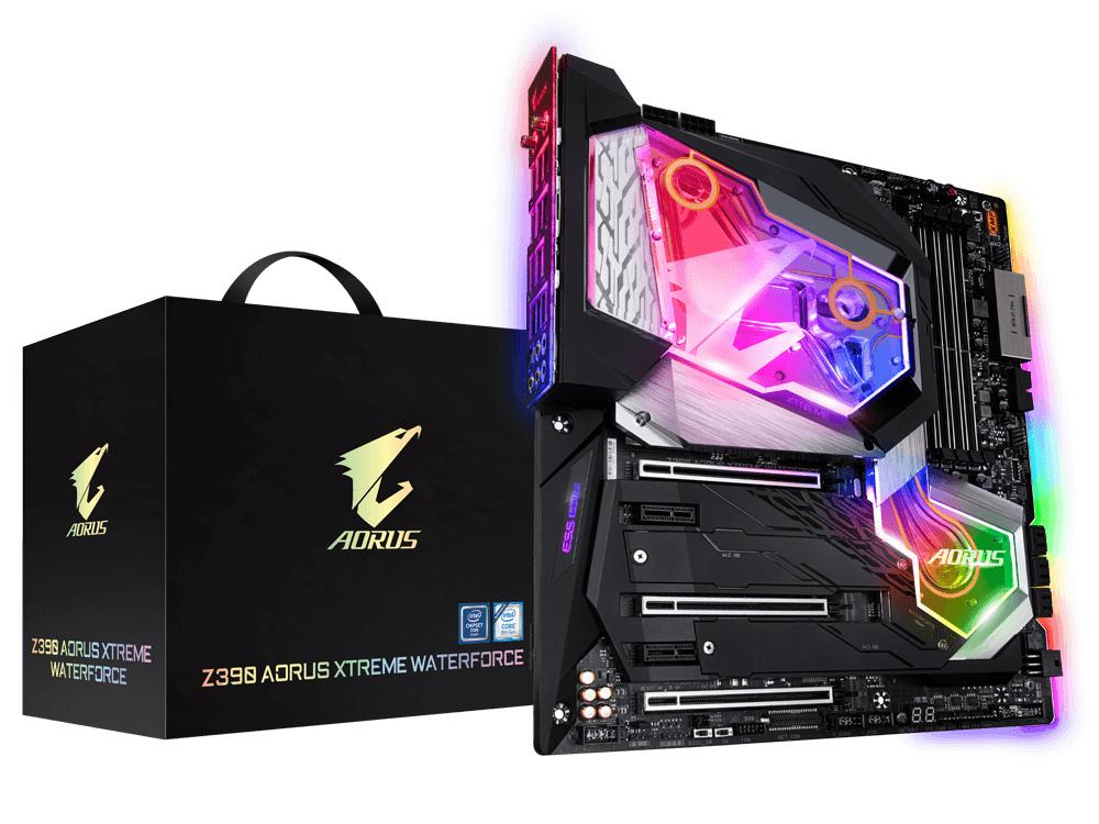 Z390 Aorus XTREME Waterforce with big liquid cooling waterblock