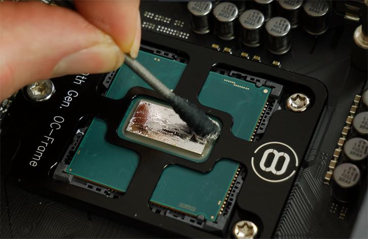 Decapitate a Core i9 9900K apply an OC-Frame, and cool it better