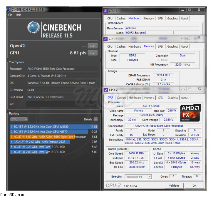 Amd Fx 9590 Centurion Benchmarks Surface