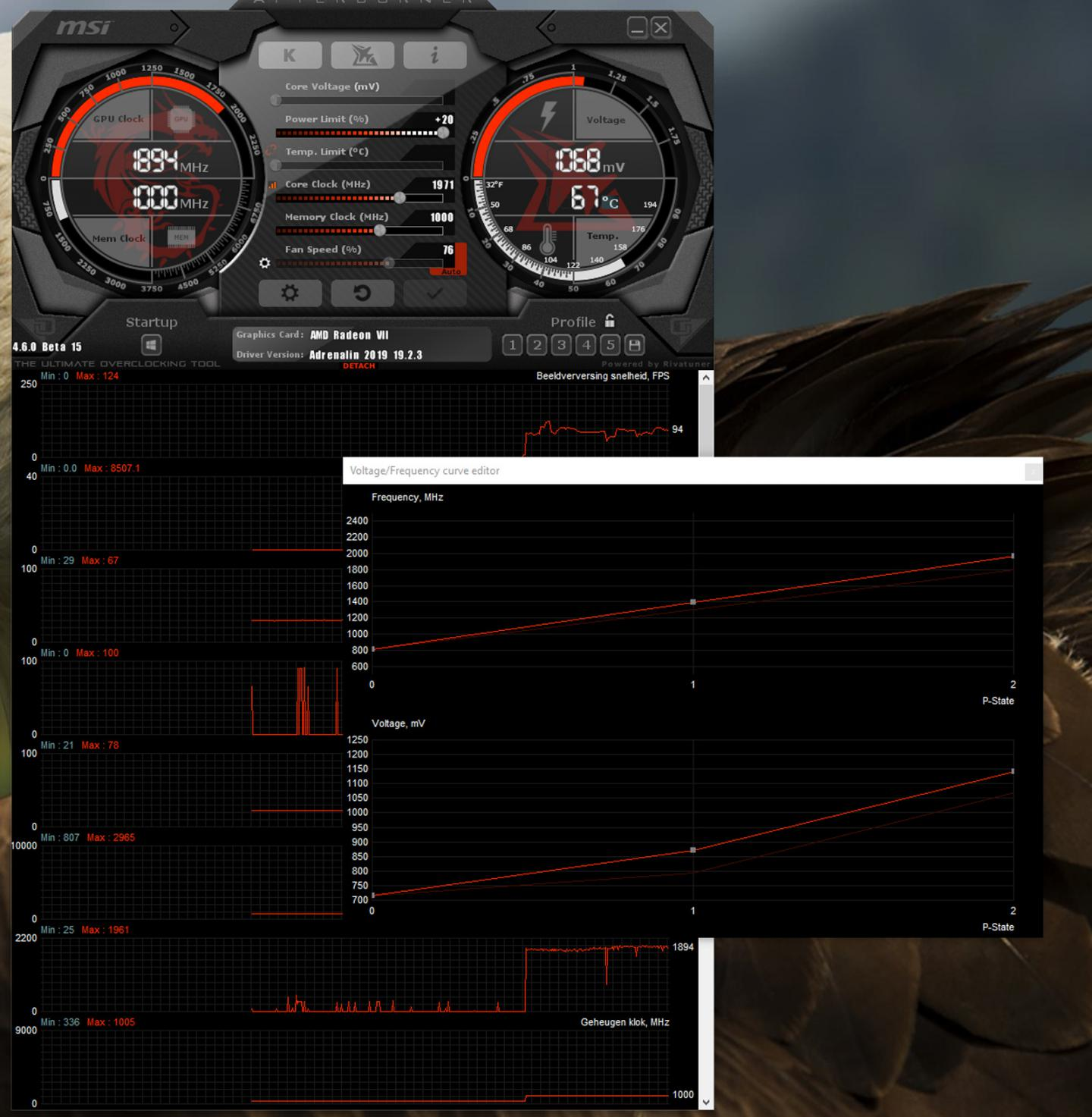 Download: Afterburner 4 6 0 Beta 16 build 14806 - more Radeon VII