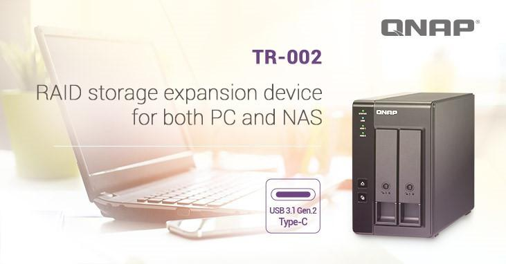QNAP Unveils the TR-002 with two slots and USB 3 1 Gen