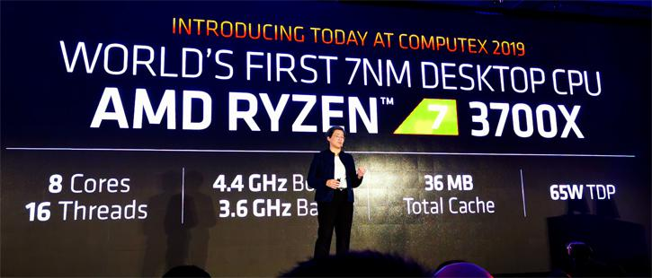 AMD Announces Ryzen 7 3700X, 3800X and Ryzen 9 3900X