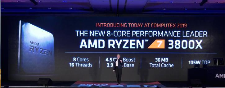 AMD Announces Ryzen 7 3700X, 3800X and Ryzen 9 3900X