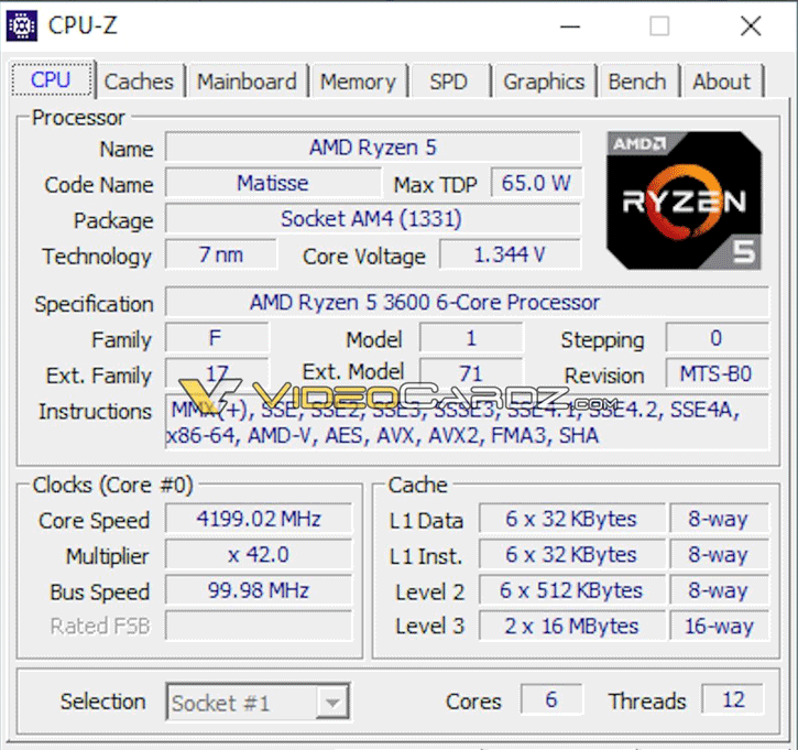 AMD Ryzen 5 3600 CPU Benchmarks Surface