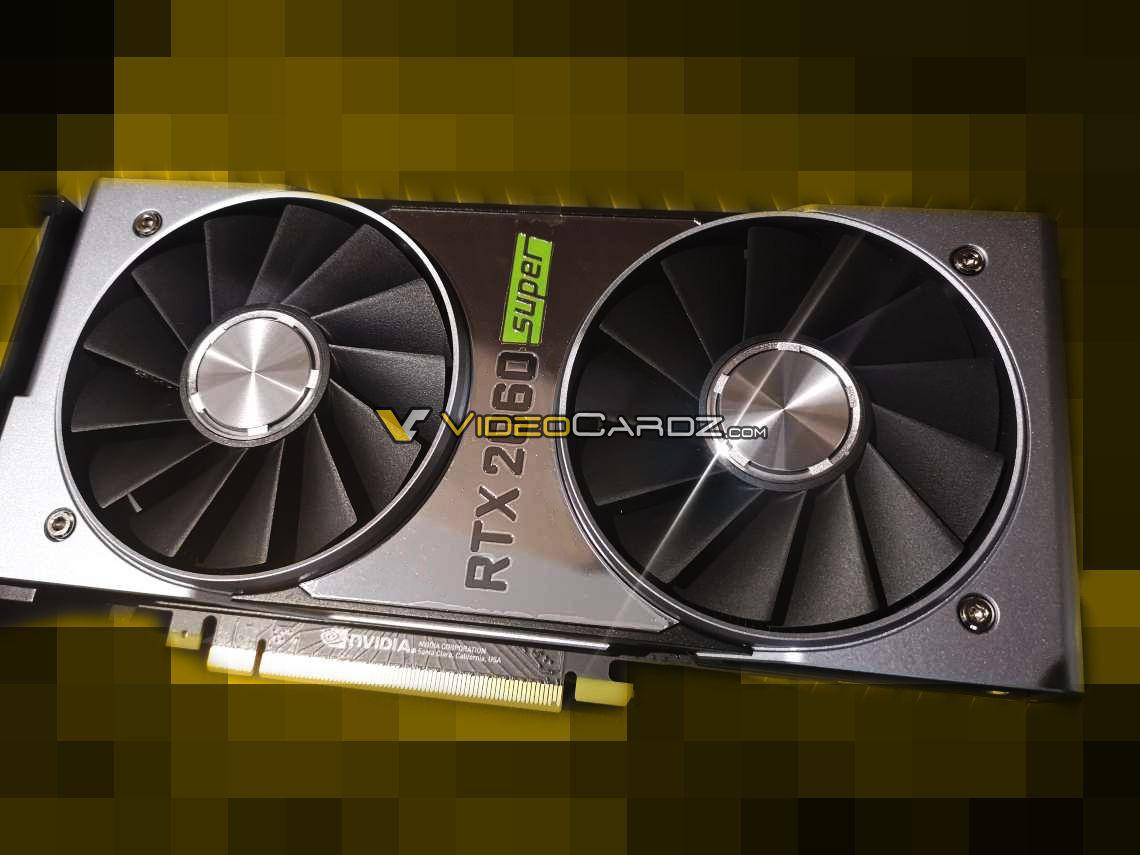 Photos of the Nvidia GeForce RTX 2060 Super Founder Edition pop up
