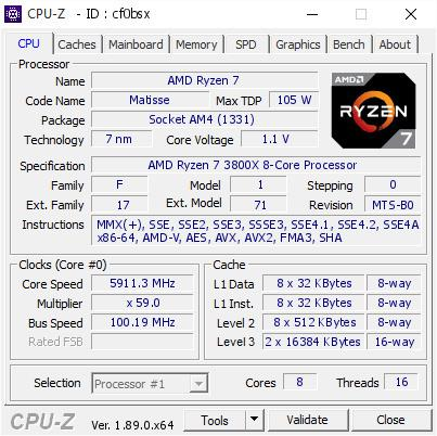 Amd Ryzen 7 3800x Overclocked To 5 9 Ghz On Ln2 Ddr4 At 5774 Mt S