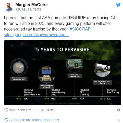 """NVIDIA's Morgan McGuire: """"First triple-A game to require a ray"""